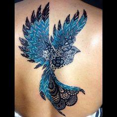 Lace Bird Tattoo 46