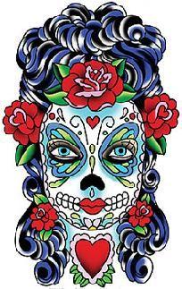 $3.50 Sugar Skull Lady, 5.5 inch tall