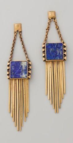 cobalt + gold earrings.
