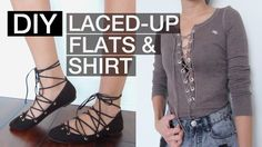 Here's a way you can update your old flats and shirt with the current lace-up trend that I've been seeing lately. There is absolutely no sewing required for ...