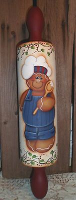 HP Gingerbread Rolling Pin Hand Painted Wall Decor | eBay
