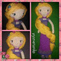 patianzola:: #amigurumi #rapunzel #amigurumie #enredados #princesa #crochet #muneca #munecotejido #hechoamano #hechoconamor #hechoenvenezuela #handmade #regalo #ganchillo #arte #Artesania