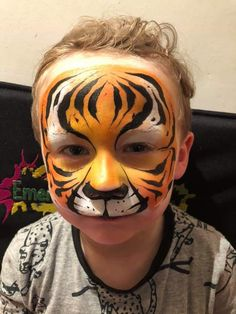 Face Painting Designs, Paint Designs, Tiger Face Paints, Cat Face, Carnival, Mardi Gras, Carnival Holiday