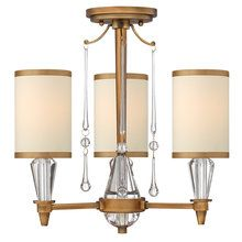 View the Fredrick Ramond FR44501 Transitional Three Light Semi Flush Mount Ceiling Fixture with Crystal Accents from the Bentley Collection at LightingDirect.com.