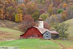 Fall Colors in Kentucky | ... and silo grace a field amidst fall leaf colors in West Virginia, USA