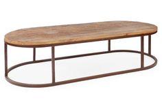 Avignon Oval Coffee Table, Rust