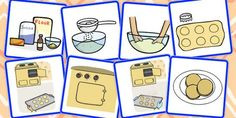 * NEW * 8 Step Sequencing Cards - Biscuits: