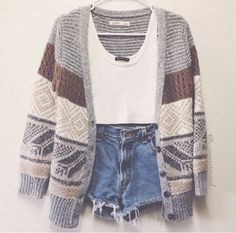 Ootdfash:cute cardigan with a casual inside