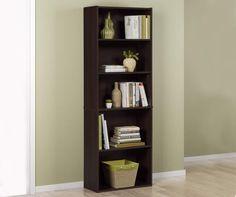 Dark Russet 5-Shelf Bookcase at Big Lots.
