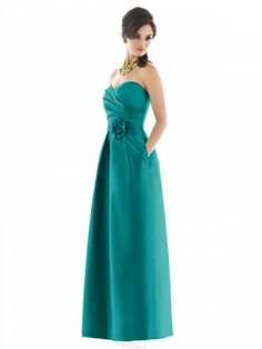 Peau De Soie Strapless Sweetheart Pleated surplice Bodice Floor-Length Special Occasion Dress