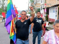 """In Tegucigalpa, Honduras, there have recently been assassinations of dozens within the struggling lgbt community. Martínez Avila had been selected to be the representative of the LGBT community in the congressional primaries for Honduras's new leftist political party, the Party of Libery and Refoundation (known by its acronym, LIBRE, which is Spanish for """"free""""). He is now dead. (Photo: Kevin Lees/ Huffpost) http://www.huffingtonpost.com/kevin-a-lees/honduran-lgbt-activists-f_b_4661499.html"""
