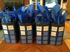 DIY Dr Who gift bags