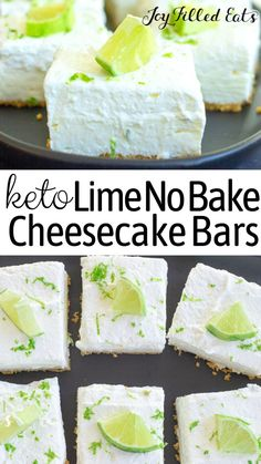 Easy No-Bake Cheesecake Bars - Keto, Low Carb, Gluten-Free, THM S - You are going to love this insanely easy and delicious sugar-free Keto No-Bake Cheesecake. Keto No Bake Cheesecake, Cheesecake Bars, Desserts Keto, Keto Snacks, Easy Desserts, Snacks Recipes, Potato Recipes, Vegetable Recipes, Joy Filled Eats