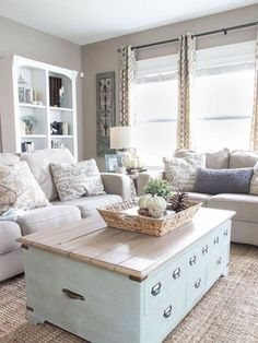 Comfy Farmhouse Living Room Designs To Steal (37)