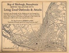 Pittsburgh zombie outbreak map.