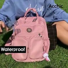 Large Capacity Multi-Pocket Waterproof Product Parameters Gender: Female Bag Type: Backpack Material: Nylon,Polyester Occasion: Daily,Others,Sport,Travel Strap Type: No Straps Closure Type: Zipper S Mochila Jeans, Mochila Kanken, Waterproof Backpack, Cute Bags, School Backpacks, Cute Backpacks For College, Backpack Bags, Duffle Bags, Messenger Bags