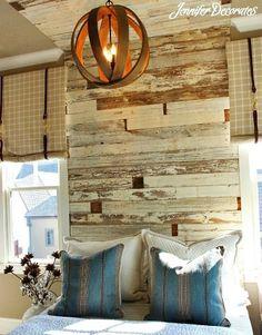 { wood headboard to ceiling }