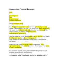 Free Sponsorship Letter 7 Best Donation Letter Samples Images On Pinterest  Auction Ideas .