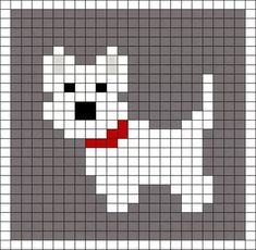 Little Scottie dog pattern chart, great for making crochet corner to corner . : Little Scottie dog pattern chart, great for making crochet corner to corner blanket, or afgan. This could be used as a Graphgan pattern: Cross Stitch Cards, Cross Stitch Animals, Cross Stitching, Cross Stitch Embroidery, Embroidery Patterns, Cross Stitch Patterns, Baby Knitting Patterns, Knitting Charts, Loom Patterns