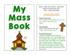 Catholic Mass Book for kids! Great for learning about the parts of Mass and working on participating.
