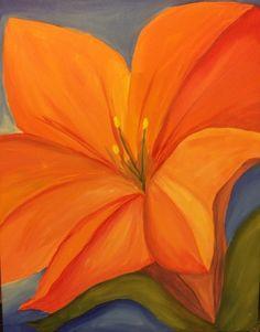 Paint Nite - O'Keeffe Orange Flower