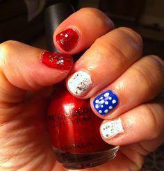 My easy 4th of July nails!