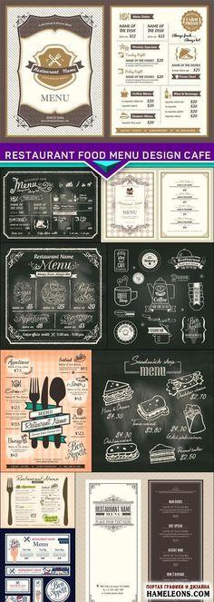 Фоны и элементы для дизайна меню ресторана, кафе - векторный клипарт | Restaurant food menu design cafe