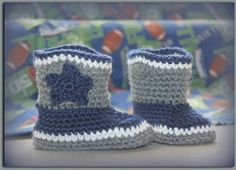 Cowboy Cowgirl Boots// Crochet baby Boots// by 2LoopyCrocheters