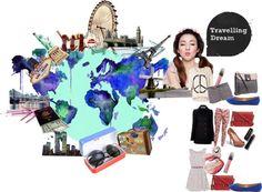 """Travelling Dream"" by felisia-merlinda ❤ liked on Polyvore"