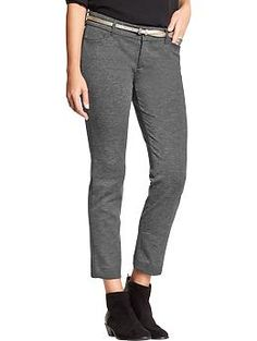 Women's The Pixie Ponte-Knit Ankle Pants | Old Navy