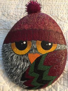 Pebble Painting, Pebble Art, Stone Painting, Rock Painting, Kids Christmas Ornaments, Christmas Rock, Stone Crafts, Rock Crafts, Bowling Ball Art
