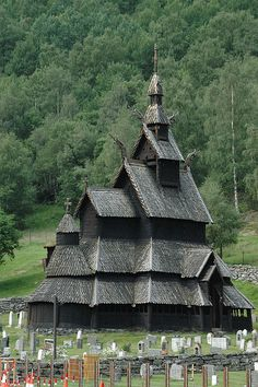 Borgund Stave Church (ca. 1181), Lærdal, Norway. Probably The Stave Church of Norway. Fantastic creature. A bit Lord of The Rings?