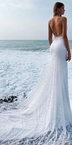The perfect style for a statement-making bride, a sexy backless wedding dress sh. - The perfect style for a statement-making bride, a sexy backless wedding dress should be your go-to - Scottish Wedding Dresses, Top Wedding Dresses, Wedding Dress Trends, Bridal Dresses, Wedding Outfits, Prom Dresses, Cruise Wedding Dress, Summer Wedding Gowns, Bridesmaid Dresses