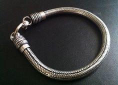 SALE 4th of July Silver rope chain bracelet, Men Silver bracelet, silver bracelet for women, bracelet Vintage style by Taneesi