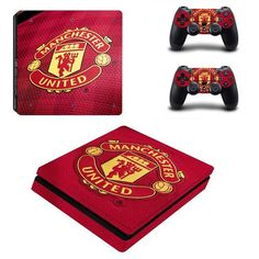 Manchester United Play Station 4 slim skin decal for console and 2 controllers
