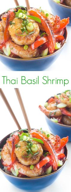 A quick and easy stir-fry recipe, Thai Basil Shrimp is full of flavor and ready in just 15 minutes. Perfect for busy weeknights!