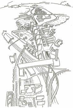 OMA euralille sketch masterplan