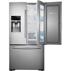Samsung 22.5 cu. ft. Food Showcase French Door Refrigerator in Stainless Steel, Counter Depth-RF23HTEDBSR - The Home Depot