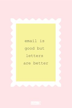 Email is good but letters are better - happiness quote