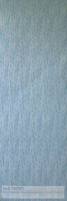Handmade wallpaper-poster. Det Danske Kunstnertapets Fugl Fønix  LLZ TAPET Denmark reprint of Ib Buch.