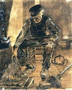 Vincent Van Gogh - Old man at the fireside, 17 November 1881