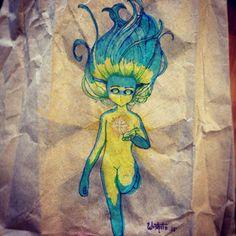 My fairy #illustration #Draw #FeltPen #MagicCreatures #Drawing #Art