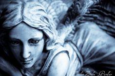 Heaven Sent Cyanotype Fine Art Photograph by HeatherZahnGardner Bring Me To Life, Angels Among Us, Angel Statues, Cyanotype, Don't Blink, Heaven Sent, Stone Art, Creepy, Sculptures
