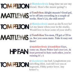 Oh my word. I love this! Tom Felton is the best!
