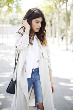 edgy trench look