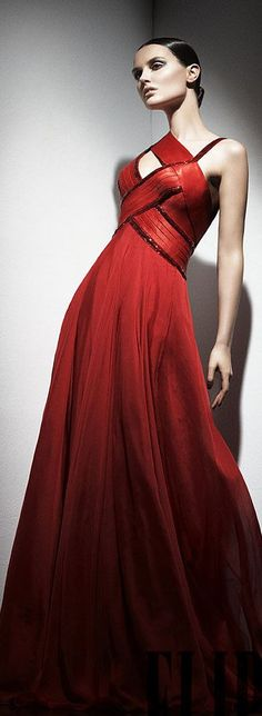 Lady in RED...Geoges Hobeika red evening gown