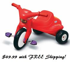 Little Tikes Classic Tough Tire Trike $49.99 With FREE Shipping! - http://couponingforfreebies.com/little-tikes-classic-tough-tire-trike-49-99-free-shipping/