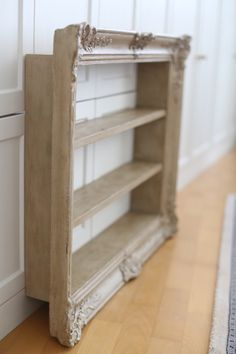 Blondel Frame with shelves.  Countrey Grey and Old White