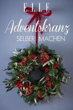 Adventskranz selber machen: Die schönsten Ideen von Pinterest #adventskranz #advent #kranz #basteln #diy #doityourself #adventwreath #wreath