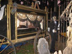 Halloween cemetery horse drawn hearse and undertaker Haunt Forum member photo